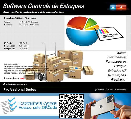 Software controle de estoque almoxarifado código de barras